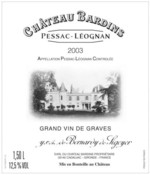 Château Bardins - Pessac-Léognan