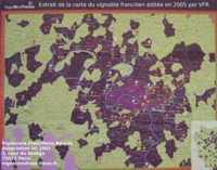 Carte du vignoble francilien, 2005, VFR.