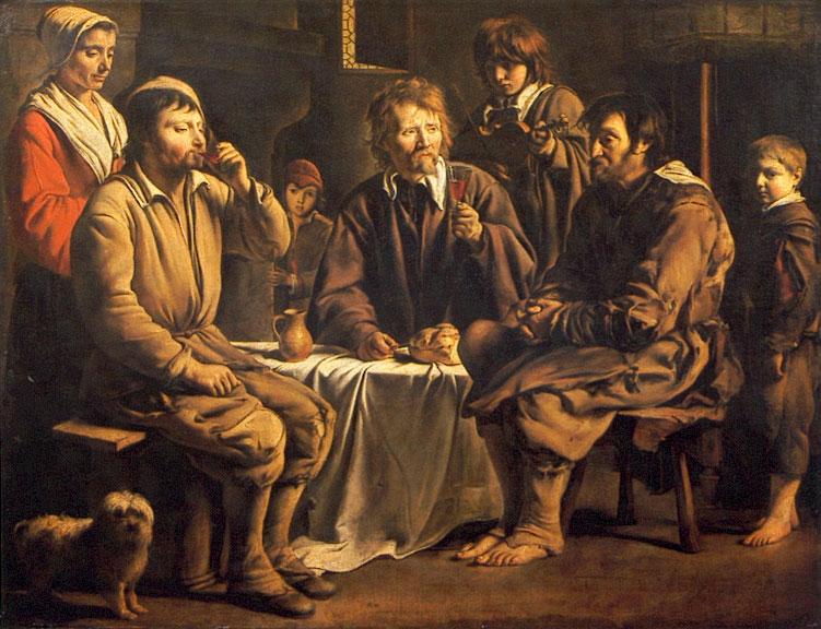 Louis LE NAIN ?, Laon, vers 1600/1610 - Paris, 1648. Repas de paysans, 1642. © Musée du Louvre / A. Dequier - M. Bard.