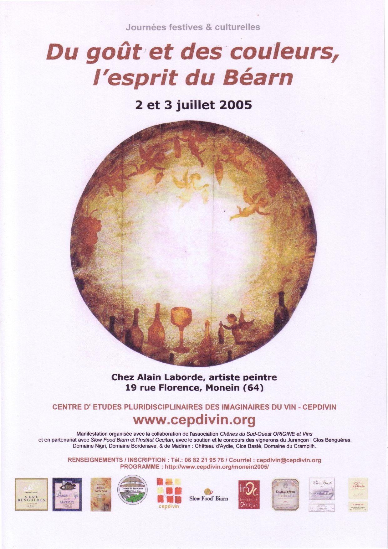 Du goût et des couleurs, l'esprit du Béarn, juillet 2005.