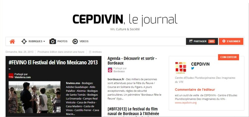 CEPDIVIN, le journal
