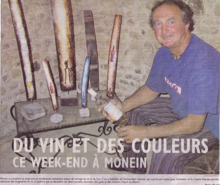 Du vin et des couleurs. La République des Pyrénées, 01/07/2005