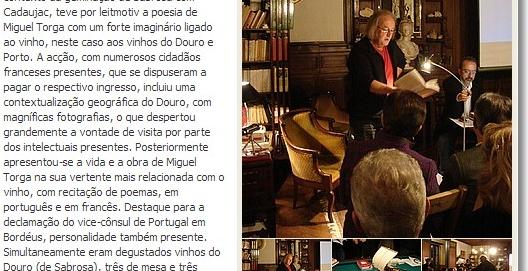 Sabrosa promove vinhos em país e terra de vinhos, Sabrosa municipio, 24/11/2010.