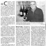 Le vin, païen ou sacré. Sud Ouest 19/01/2013