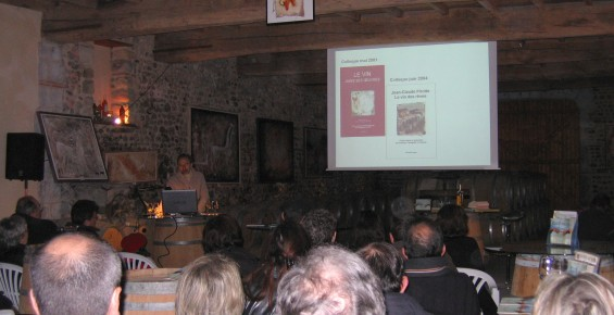 Amancio Tenaguillo y Cortázar : Oinopos - voyage au pays du vin. Dégustation littéraire, Domaine Bordenave,12/12/2009.