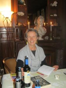 Chantal Armagnac. Dégustation littéraire au Château Bardins,15/11/20 13.