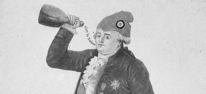 Louis XVI avoit mis le Bonnet rouge.