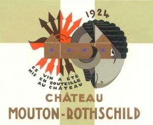 Mouton Rothschild 1924. Etiquette de Jean Carlu.