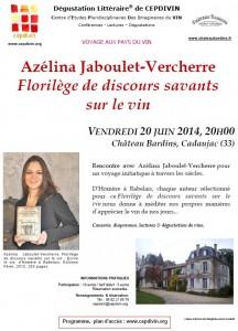 Azelina Jaboulet-Vercherre Florilege de discours savants sur le vin