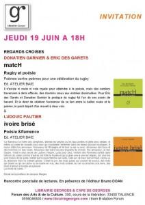 Librairie Georges, regards croisés : rugby, poésie et flamenco
