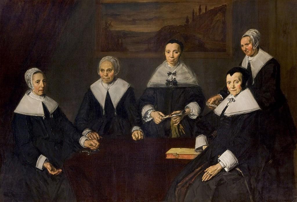 Portrait de groupe des régentes de l'hospice de vieillards, 1664, huile sur toile, 175 x 249,5 cm (Frans Halsmuseum, Haarlem).