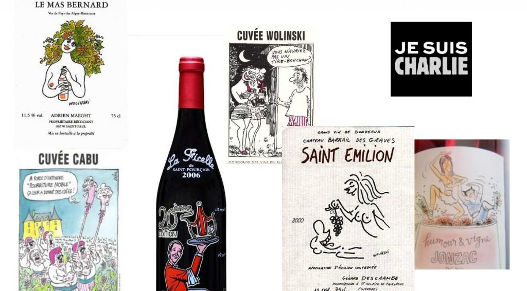 charlie hebdo et les etiquettes de vin
