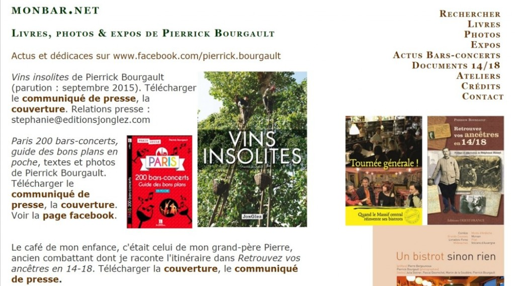 Livres, photos & expos de Pierrick Bourgault